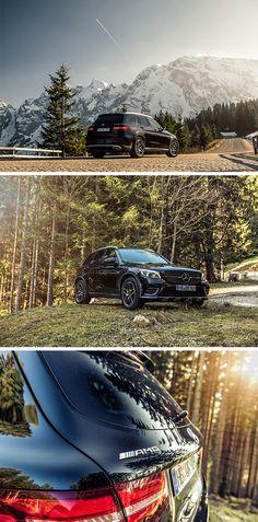 Adventurous: The Mercedes-AMG GLC 43 4MATIC. Photos by Florian Haizmann (www.prismview.de) for #MBsocialcar [Mercedes-AMG GLC 43 4MATIC   Fuel consumption combined: 8.7–8.3 l/100km   combined CO₂ emissions: 199–189 g/km   http://mb4.me/efficiency_statement]