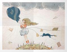 "Illustration for "" The story is in the bag"" Vintage World Maps, Key, Illustrations, Unique Key, Illustration"