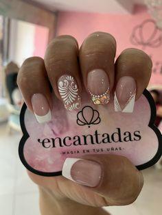 Cute Acrylic Nail Designs, Cute Acrylic Nails, Super Nails, Nail Decorations, French Nails, Nails Inspiration, Beauty Hacks, Nail Art, Hand Painted