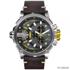Timecode Marconi Dual Time Chronographs   TC-1002-09, TC-1002-11, TC-1002-12, TC-1002-13, TC-1002-15