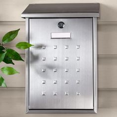 Premium Locking Wall-Mount Mailbox - Stainless Steel