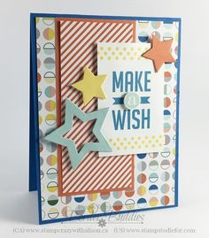 Make a Wish Hand Stamped Card