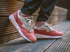 chaussure Saucony Grid 8000 'Shrimp Lobster Scampi' Cream Pink (2)