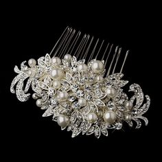 Since my hair wont be long enough for the style I originally wanted, This sparkling bridal hair comb is a sensational accessory.