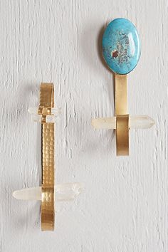 Naica Hook - anthropologie.com    Glamourous hooks at your entryway.    $28 each