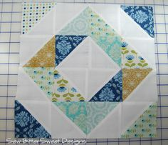 Melissa @Sarah Chintomby Chintomby Mandell White BitterSweet Designs. Sweet little quilt block :)