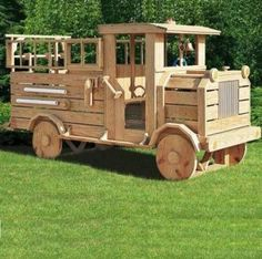 Amish Made Backyard Playsetequipment Old-Fashioned Fun-Time Fire Truck
