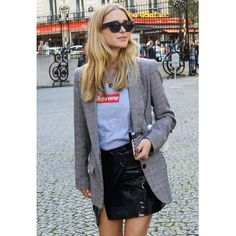 Danish blogger Pernille Teisbaek wearing our Isabel Marant Kiana Blazer on the streets of Paris - available at #claremont.
