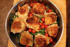 Earning Your Apron: Real Simple's Roasted Chicken with Asparagus (one-pot wonder with little hands-on time!)