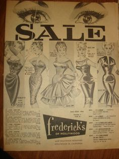 Vintage 1963 frederick's of Hollywood GLAMOUR Clothing Catalog - 39 pages, Sale Issue - Issue 70 vol 17 ~ 1960s Fashion Catalog by PastPossessionsOnly on Etsy