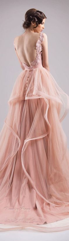 The gown boutique. Chrystelle Atallah Spring ~ Summer 2015 Blush pink Gown