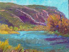 "El Monte Sagrado Show by Michelle Chrisman Oil ~ 12"" x 18"""