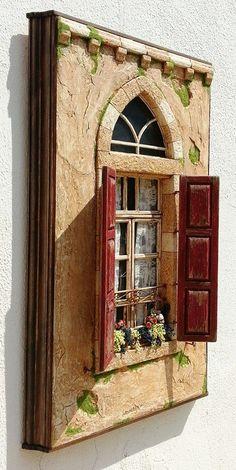 diorama ideas Bananapook: Mind-Blowingly realistic miniatures of Lebanese homes Chawki Yazbeck Miniature Rooms, Miniature Crafts, Miniature Houses, Diy And Crafts, Arts And Crafts, Doll House Crafts, Shadow Box Art, Fairy Doors, Fairy Houses