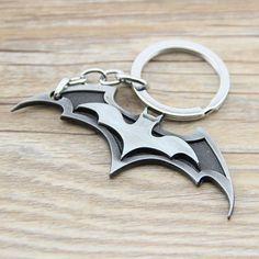1PCS New Arrival Super Hero Superhero Marvel Batman Bat Metal Keychain Pendant Key Chain Chaveiro Key Ring KT195