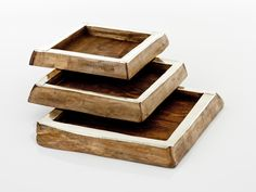 CHALTEN MINI SQUARE TRAYS · wood and alpaca metal · AIREDELSUR