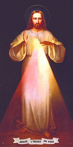"""Shrine"" Divine Mercy Image This image was painted by Maria Gama in 1945 under the direction Father Joesph Jarzebowski, MIC. Jesus Mercy, Divine Mercy Image, Jesus Drawings, Divine Mercy Chaplet, Jesus Loves Us, Pictures Of Jesus Christ, Jesus On The Cross, Anime Art Girl, Ball Gowns"