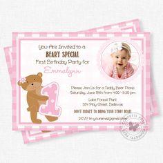 Teddy Bear Picnic Invitation Bear Birthday by ConfettiFete on Etsy