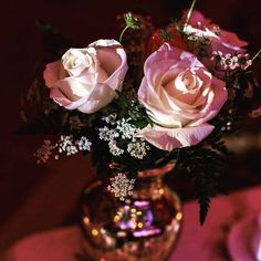 The beauty is in the rose and gold! Event Decor, Events, Table Decorations, Rose, Instagram Posts, Beauty, Pink, Roses