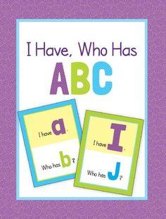 ABC letter recognition game plus alphabet cards