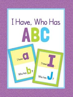 ABC letter recognition game plus alphabet cards