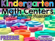 Kindergarten math centers are great for students to practice those early math skills that are the foundation for success! I hope that you enjoy this freebie!