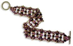 Royal Purple R.A.W Bracelet - A project from Bead-Patterns the Magazine Issue 40!