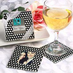 DIY Coasters DIY Polka Dot Photo Coaster Favors DIY Coasters