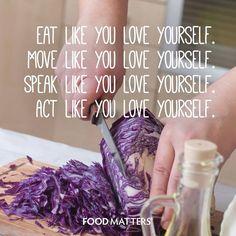 You deserve it! www.foodmatters.tv
