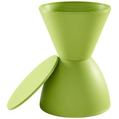 The Haste Stool in Green makes a great table or stool for storage