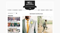 Well Groomed, a website for grooms!