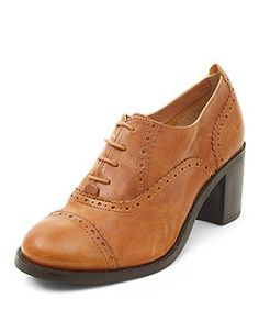 Chaussures Richelieu en cuir Wide Fit taupe   New Look