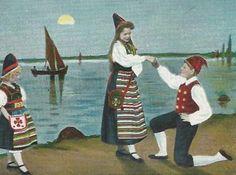 Den första kärleksförklaringen på Midsommaraftonen 1900