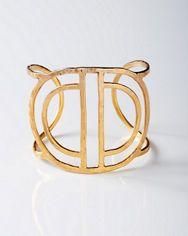 Mickey Lynn Hammered Cuff Bracelet - Gold