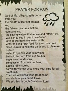 Prayer for rain                                                       …