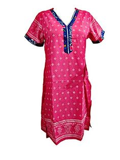 47940c91bb84 Indian Tunic Top Womens   Kurti Pink Printed Dress India Clothing Small  Mogul Interior http