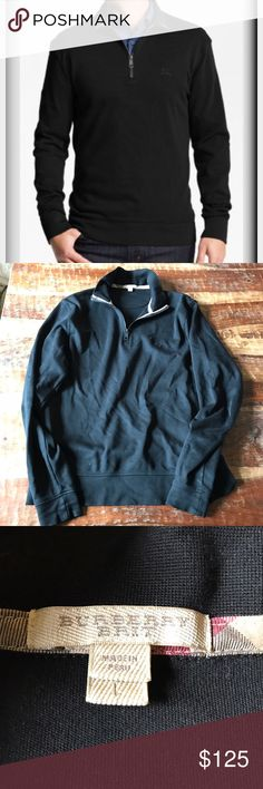 "Burberry Pullover Black Pullover in excellent condition with no signs of wear. Chest is 24"" across laying flat and length is 28"" Burberry Shirts"