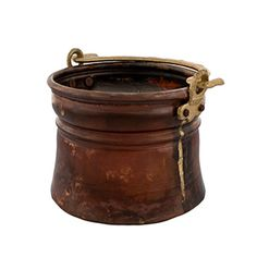 Mini Antique Copper Bucket in Brown II - $35.00