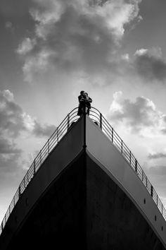 Jack (Leonardo) and Rose (Kate) in Titanic <3