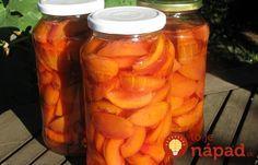 Ovocie zavárané bez cukru a bez nálevu: Zdravé, chutné a výborné hlavne pre cukrovkárov! Preserves, Pickles, Cantaloupe, Cucumber, Carrots, Food And Drink, Stuffed Peppers, Canning, Vegetables