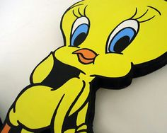 Tweety wall hanging Looney Tunes Party, Baby Looney Tunes, Tweety, Etsy, Fictional Characters, Wall, Fantasy Characters