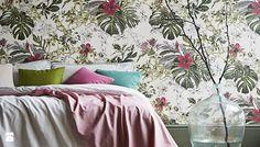 Fototapeta z motywem kwiatów. liści w sypialni - zdjęcie od Martyna