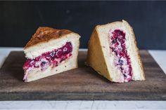White Chocolate Berry Brioche Cake