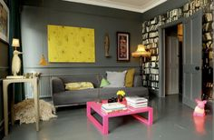 Abigail Ahern interiors eclectic-living-room