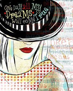 Dreams Inspirational Art original illustration ART by studio3ten, $20.00