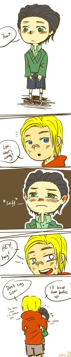 I went and drew fluffy Thor/Loki in Modern AU I don't know why but I really love seeing Loki cry, it's so cute (don't judge me!) -I blame Tom Hiddleston. I'm here, don't cry (Thor/Loki) Marvel Fan, Marvel Avengers, Marvel Comics, Marvel Memes, Leiden, Johnlock, Destiel, Comic Collage, Heros Comics
