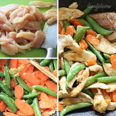 Spring Stir Fried Chicken with Sugar Snap Peas and Carrots | Skinnytaste - gluton free, low calorie and looks yummy!