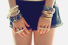 gold and rings