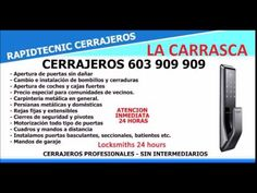 CERRAJEROS LA CARRASCA VALENCIA 603 909 909