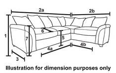 Farrow Left Hand Facing 3 Seater Pillow Back Corner Sofa Talia | DFS