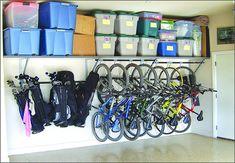 Great idea for bike storage! So organized...